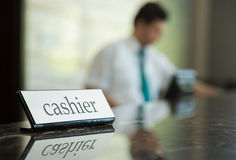 Hotel cashier Royalty Free Stock Photography
