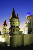 Hotel & casino de Excalibur em Las Vegas na noite Fotos de Stock