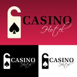 Hotel casino logo Royalty Free Stock Images