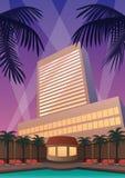 Hotel Casino Resort. Hotel and casino resort in Art Deco style Royalty Free Stock Photos