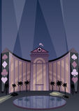 Hotel and Casino. Resort in Art Deco style vector illustration