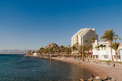 The hotel and casino are on the shore of the Red Sea. Egypt Stock Image