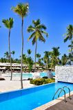 Hotel Catalonia Royal Bavaro. Pool view from the room. Punta Cana, Dominican Republic Stock Photography