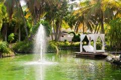 Hotel Cataluña real República Dominicana Imágenes de archivo libres de regalías