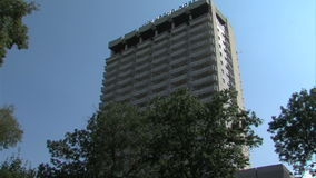Hotel in the center of Varna, Bulgaria stock video footage
