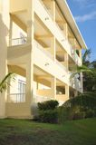 Hotel Chalet Block in Caribbean Stock Photography