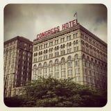 Hotel Chicago del congreso Imagen de archivo libre de regalías