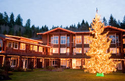 Hotel during Christmas Royalty Free Stock Photography