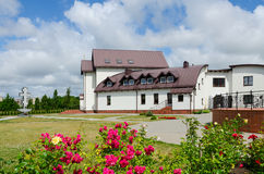 Hotel (church house) on territory of Pokrovo- Nicholas Church, K Royalty Free Stock Photos