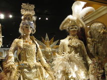 Hotel Cipriani Venice. Beautiful full dressed mannequins are part of the display at The Hotel Cipriani Venice Stock Photos