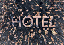 Hotel in the city. Great tourism background Stock Image