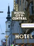 Hotel City-Central in Vienna Stock Images
