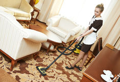 Hotel cleaning service Stock Image