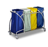 The hotel cleaning tool cart  Royalty Free Stock Image