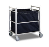 The hotel cleaning tool cart  Stock Photography