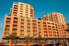 Hotel am Clearwater Strand Florida Lizenzfreies Stockbild