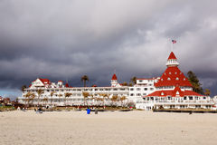 Hotel close to beach in San Diego Royalty Free Stock Photos