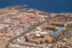 Hotel club area. Aerial view of the hotel club area in Puerto del Rosario, Fuerteventura Royalty Free Stock Image