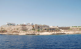 Hotel at coast of the red sea. Royalty Free Stock Photo