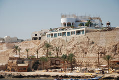 Hotel at coast of the red sea. Stock Photos