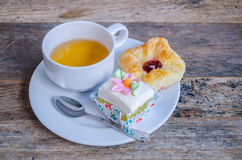 Hotel coffee break with cuisine Stock Photography
