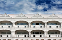 Hotel in colonial style architecture Royalty Free Stock Images