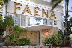 Hotel común de Faena de la imagen la barra 2017 de Sajonia fotos de archivo libres de regalías