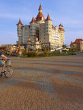 Hotel complex Bogatyr styled medieval castle Stock Images