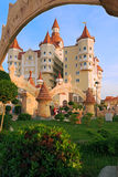 Hotel complex Bogatyr styled medieval castle Stock Photo