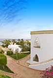 Hotel complex Egypt. Scenic view of hotel complex with sea in background, Sharm el Sheikh, Egypt Stock Images
