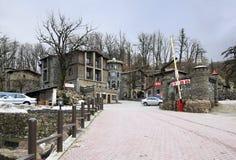 Hotel complex Fort Evrika in Krasnaya Polyana Royalty Free Stock Photos