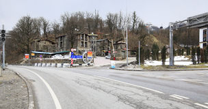 Hotel complex Fort Evrika in Krasnaya Polyana Stock Photography