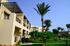 Hotel complex with garden in egypt Royalty Free Stock Image