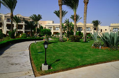 Hotel complex with a garden in egypt holidays Stock Photo