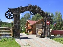 Hotel complex. Manor Sarzhevskih. Tourist-recreational special economic zone Biryuzovaya Katun. Altai. Russia Royalty Free Stock Image