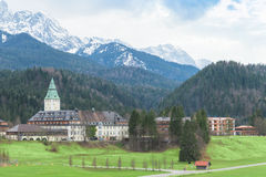 Hotel complex Schloss Elmau in Bavarian Alps summit G7 G8 Royalty Free Stock Image