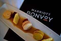Hotel Complimentary Macarons on Dish
