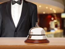 Hotel Concierge. Service bell at the hotel Royalty Free Stock Photography