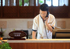 The hotel concierge waiter royalty free stock image