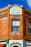 Hotel Connor Jerome. Jerome, AZ USA - October 16, 2016: The historic Hotel Connor is a popular tourist destination in this trendy small mountain town overlooking Royalty Free Stock Photography