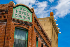 Hotel Connor Jerome. Jerome, Arizona USA - April 27, 2017: The historic Hotel Connor is a popular tourist destination in this trendy small mountain town Royalty Free Stock Photography