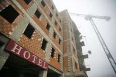 Hotel in construction Royalty Free Stock Photos
