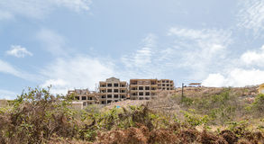 Hotel Construction on St Kitts Hill Stock Images