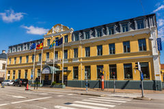 Hotel Continentaal in Ystad Stock Foto's