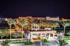 Hotel continental Hurghada de cinco estrelas, Egito fotos de stock royalty free