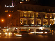 Hotel Continental, nightview Stock Photo