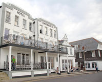 Hotel continental. Photo of the historic seafront hotel continental located in the harbour town of whitstable famous for its oysters Royalty Free Stock Images