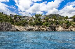 Hotel on the Corfu island, Greece Stock Images