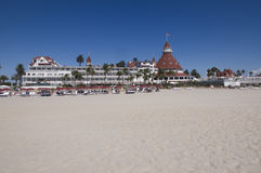 Hotel at Coronado beach Royalty Free Stock Image