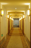 Hotel corridor. With light,nobody Royalty Free Stock Image
